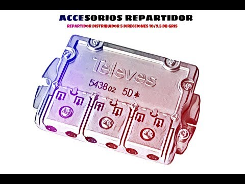 Video de Repartidor distribuidor 5 direcciones 10/9.5 dB  Gris