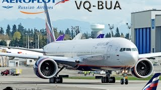aeroflot 777 300er vq bua delivery from pae to moscow russian federation svo afl761