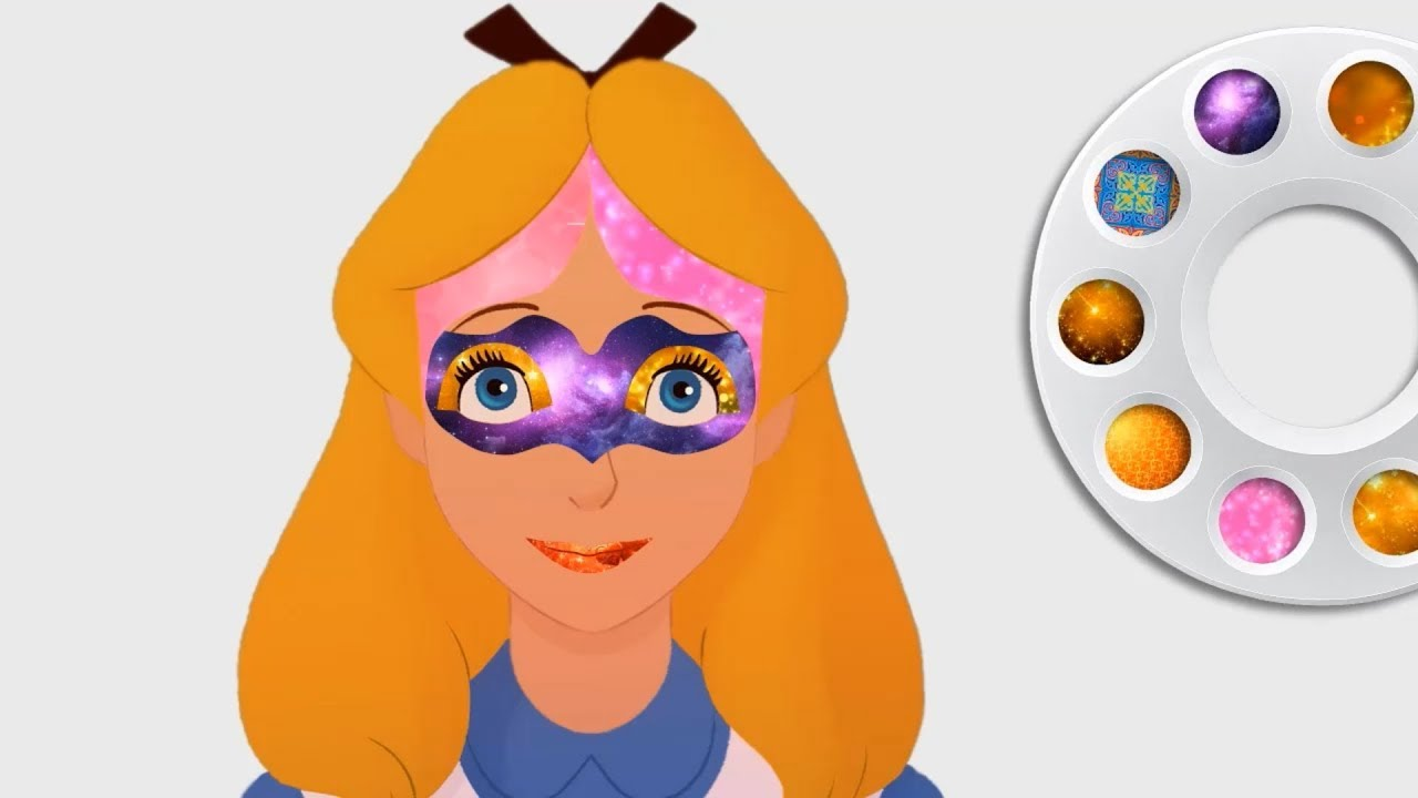 Disney Alice In Wonderland Make Up Face Painting Coloring