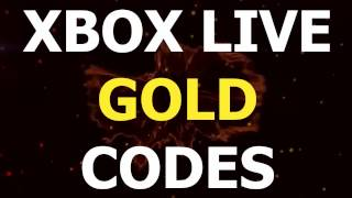 ► Free Xbox Live Gold Codes - Xbox Live Gold Code Generator 2017 Up-to-date ◄
