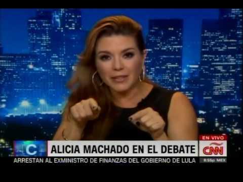 Tras debate, Alicia Machado cuenta  en Camilo CNN el trato que le dio Donald Trump