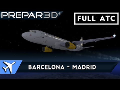 [P3Dv3] AS A320 | Barcelona - Madrid [IVAO] [FULL ATC]