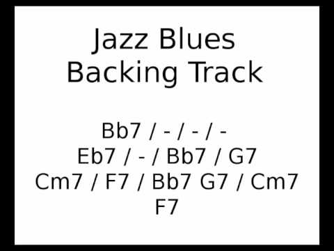 Jazz Blues backing track in Bb