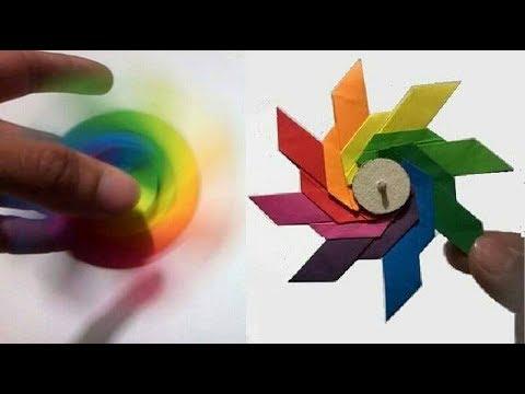 ORIGAMI FIDGET SPINNER - How To Make A Paper Fidget Spinner