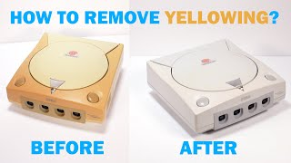 How to remove yellowing from old plastic (retrobright) the BEST method