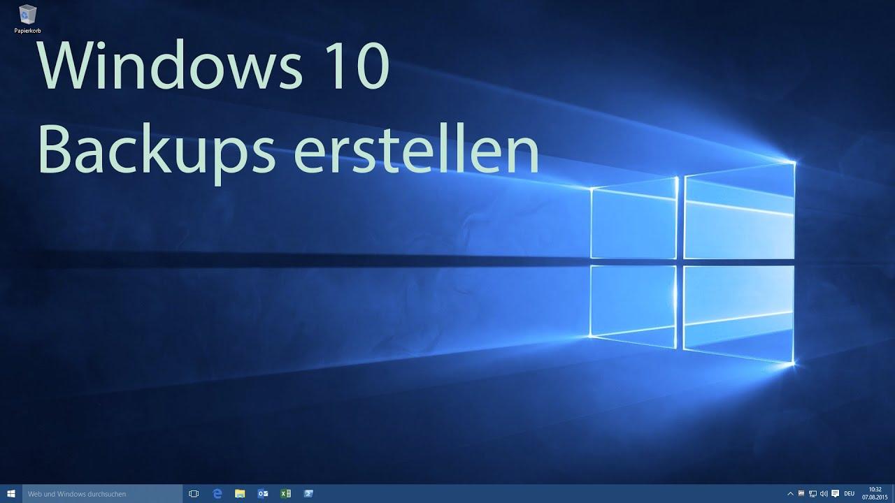 Windows 10 Backup Erstellen Youtube