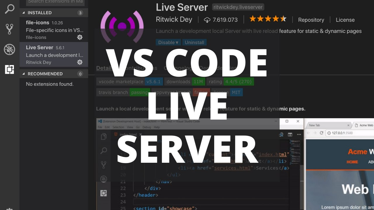 VS Code Live Server Extension: How to Auto Reload Your Browser?