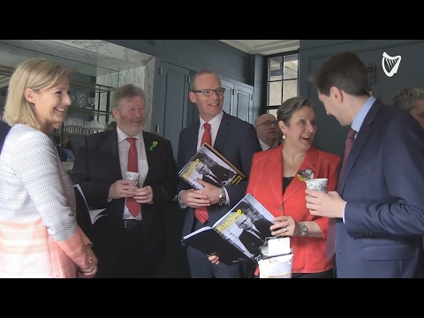VIDEO: Simon Coveney and Leo Varadkar kick off first full day of campaigning for FG leadership
