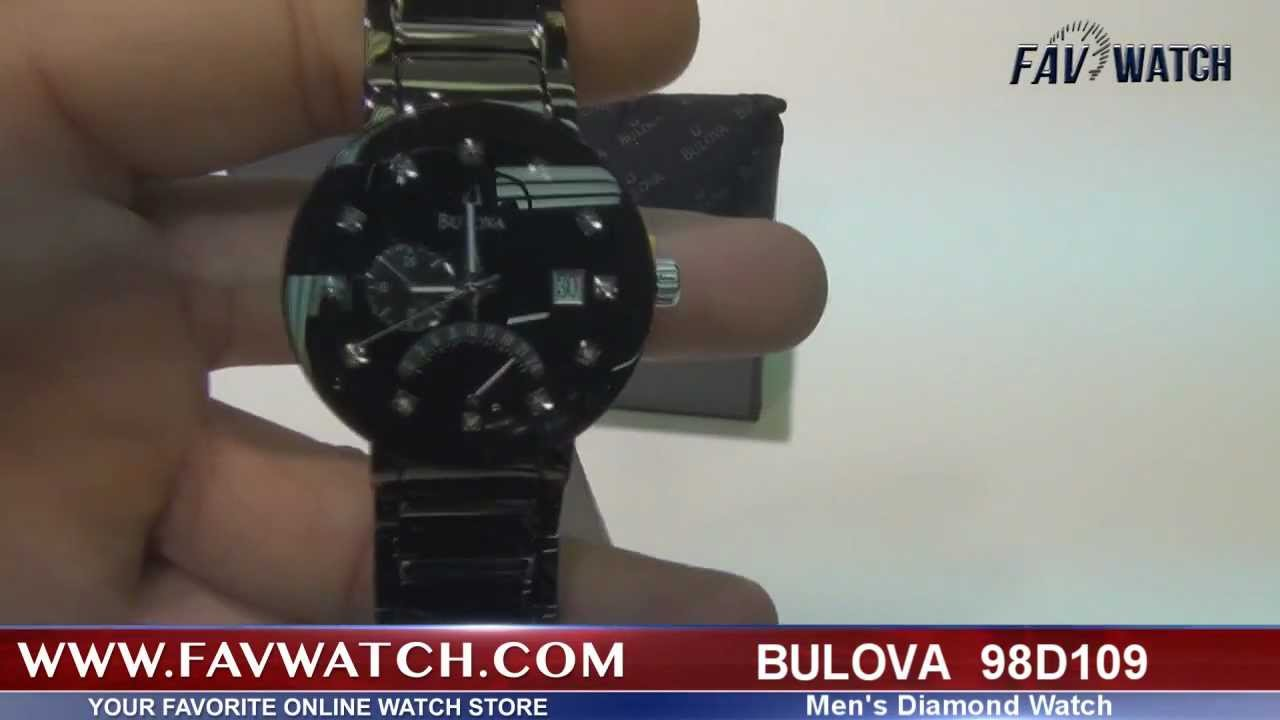 bulova 98d109 diamond men s watch bulova 98d109 diamond men s watch