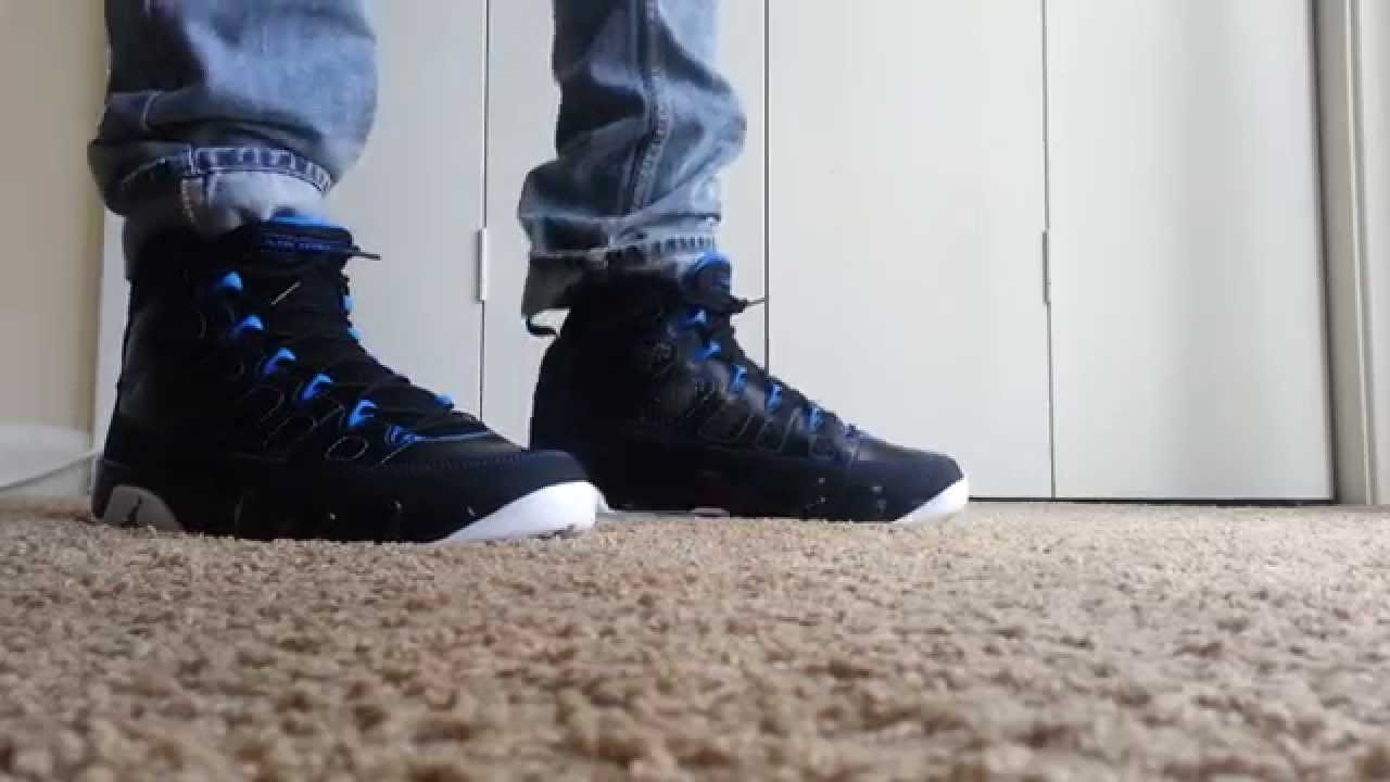 3c502ad9507cfe ... coupon for jordan 9 retro photo blueon feet youtube 31d78 146a8