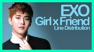 Line Distribution EXO Girl X Friend