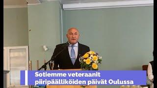 Sotiemme veteraanit piiripaalliköt Oulussa 12.8.2021