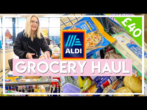 £40 WEEKLY BUDGET GROCERY SHOP AT ALDI ��Gluten free, low FODMAP