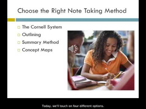 Note Taking Options PowerPoint w/Close Captioning