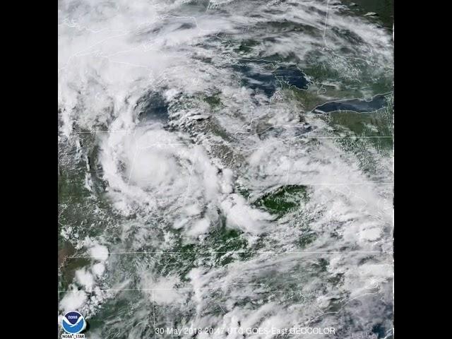 Tropical depression Alberto moving into Michigan