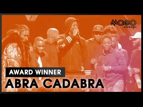 Abra Cadabra  Robbery Remix  BEST SONG acceptance speech at MOBO Awards    MOBO
