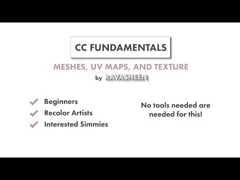 Tutoriel Sims 4 CC Fundamentals: Mesh, UVMap et Texture