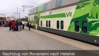 Nachtzug in Finnland: Von Rovaniemi nach Helsinki