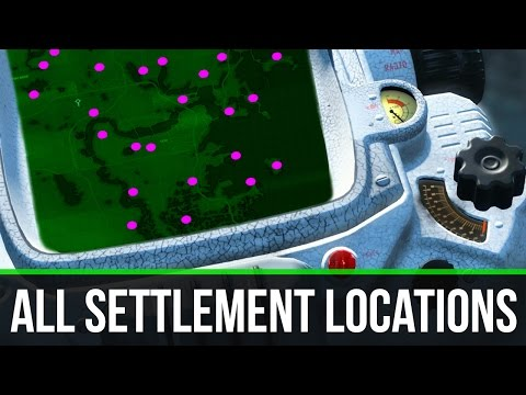 Fallout 4 ALL SETTLEMENT LOCATIONS!!!
