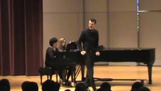 Diamond, Lawson & Thompson Recital at Drake University--Part One