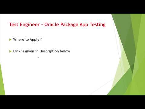 Software Testing Jobs   Test Engineer   Oracle Package App Testing   Wipro   Chennai