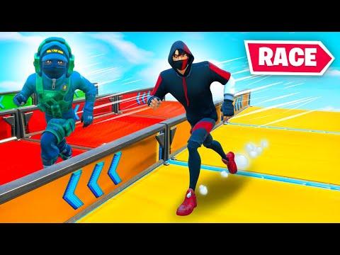 *NEW* DEATHRUN RACE In Fortnite! Fr. MrFreshAsian