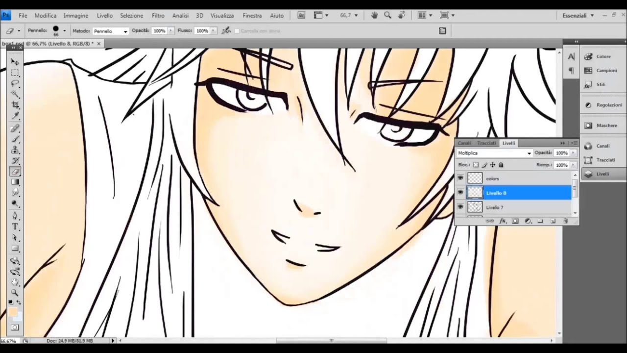 how to make manga characters in photoshop