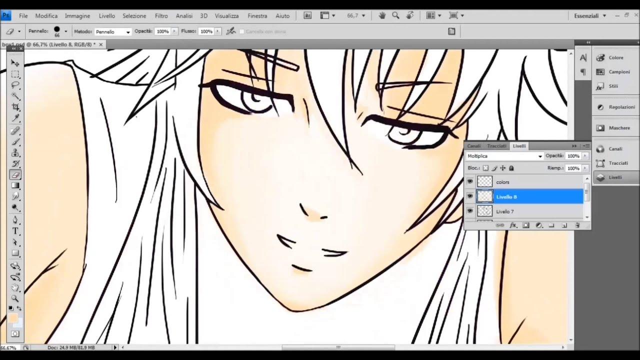 Manga style boy - drawing on Photoshop - YouTube
