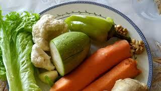 Здоровая еда-супер очистительный салат из овощей