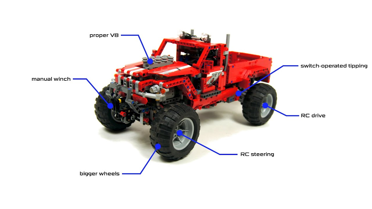 Lego Technic 42029 Custom Pick Up Full Rc Mod With Instructions