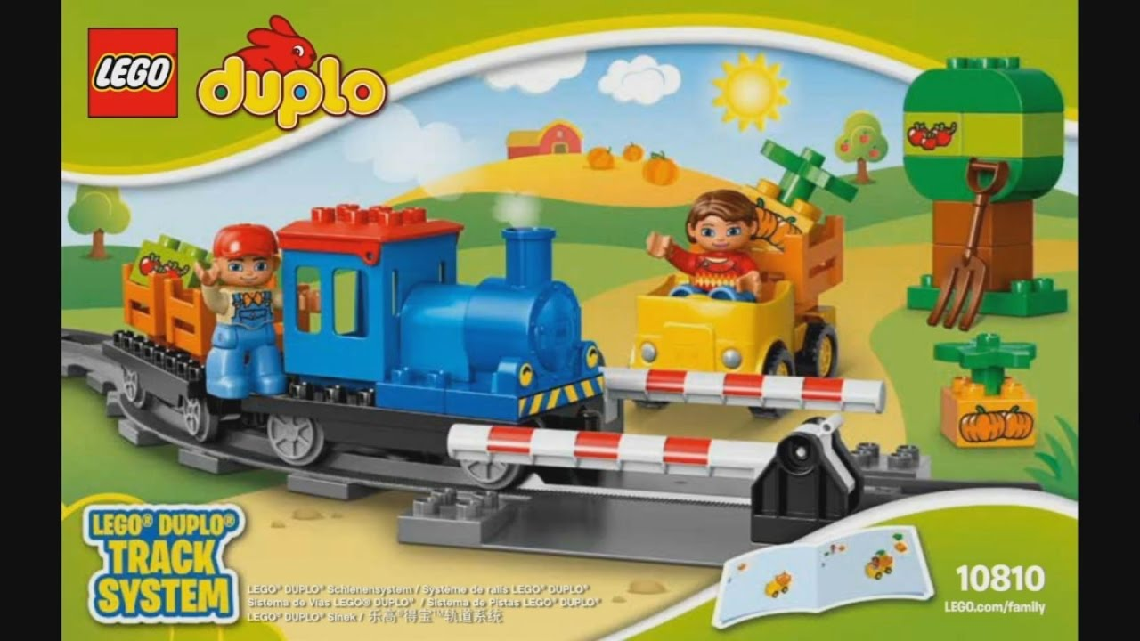 Lego Duplo 10810 Push Train Instruction Timelapse Youtube