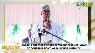 Saraki Addresses World Press Conference, Vows To Keep Fighting Injustice And Impunity
