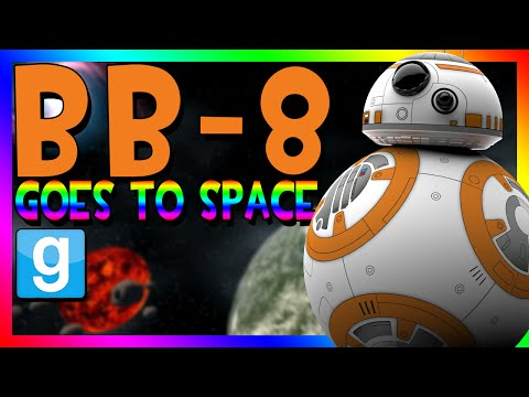 BB-8 GOES TO SPACE | Gmod Space Race (STAR WARS MOD)