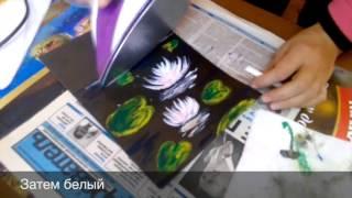 Мастер класс  Лилии утюгом ЭНКАУСТИКА