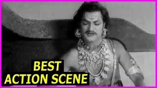 NTR Best Action Scenes In Bhookailas Telugu Movie | ANR, Jamuna, Raja Sulochana