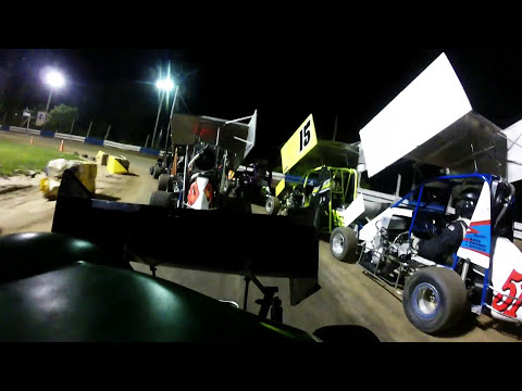 Race Car That Won't Turn! 6/9/17 600 Feature Starlite Speedway