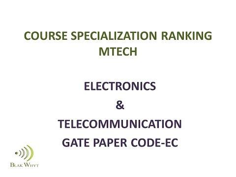 COURSE SPECIALIZATION RANKING MTECH (EC)