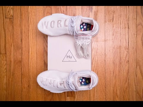 The CLEANEST Hu NMD || Adidas Human Race Holi NMD Blank Canvas by Pharrell Williams Review