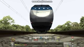Train Simulator 2013 Exclusive: Amtrak Acela Express Train Running Over Camera
