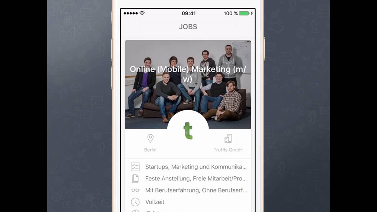 Truffls Job-App: Bewerbung ohne Anschreiben - YouTube