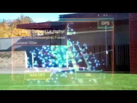 Ingress AR game through ORA-X Display