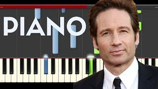 X Files piano midi tutorial sheet partitura cover Fox Serie Theme Soundtrack Illuminati Song