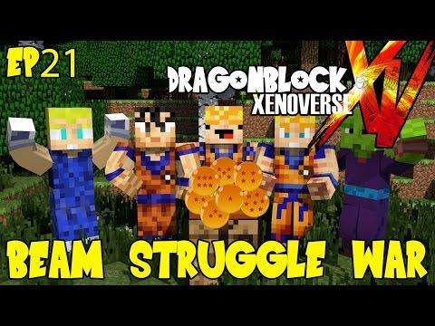 Dragon Block Xenoverse: Ki Clash Beam Struggle Wars! (Dragon Ball Z Minecraft EP 21)