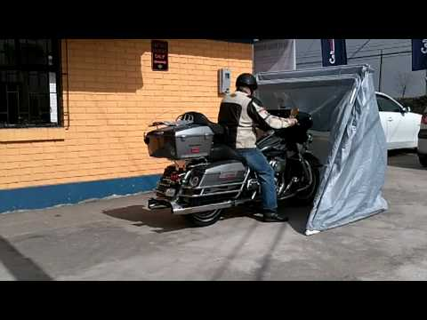 Garage para moto carpa estructural para motos youtube for Garage moto courbevoie