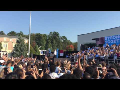 President Barack Obama at UNC Chapel Hill