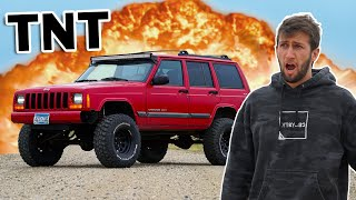 Blowing up my friends Jeep!