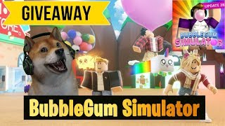 Roblox Bubble Gum Simulator Giveaway LIVE 🔴 type !ko