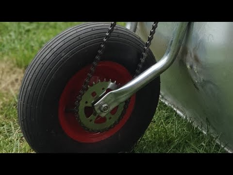 Making a Electric Wheelbarrow// AWESOME DIY INVENTIONS