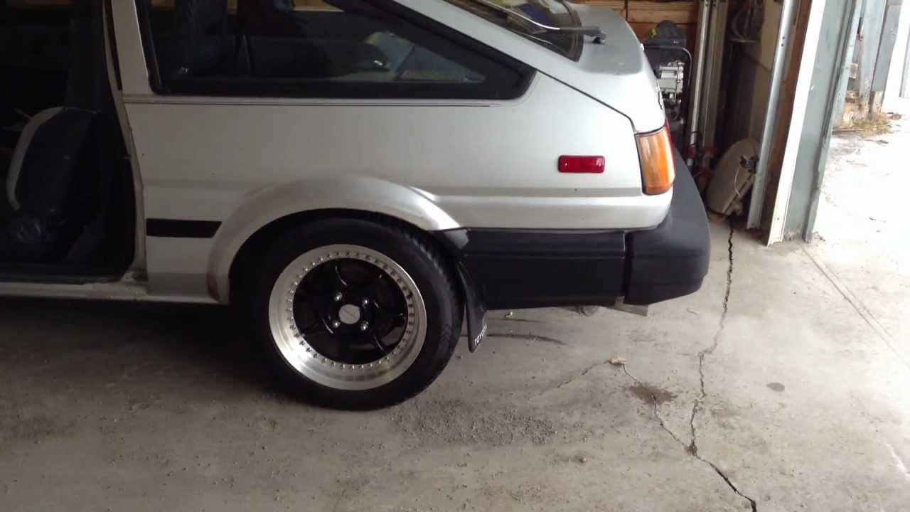 1984 Toyota AE86 4AC exhaust sound!