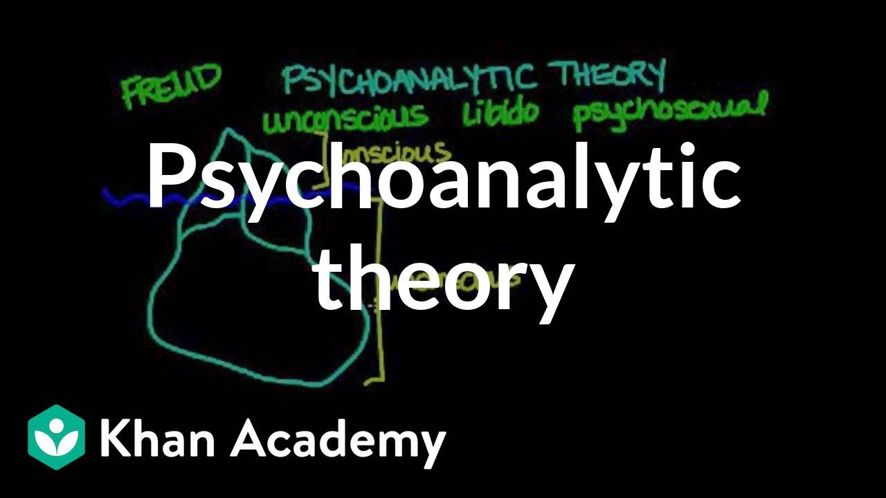 Psychoanalytic Theory Video Behavior Khan Academy